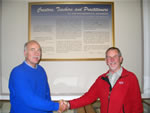 With David Farrel at Opening of Bancroft Math Book Exhibit 2005